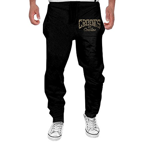 Men Crooks And Castles Leopard Logo Open-bottom Sweatpants M