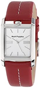Hush Puppies Women's HP.3610L04.2522 Orbz Rectangular Stainless Steel Red Genuine Leather Watch