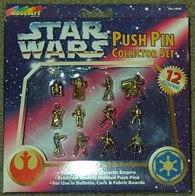 Star Wars Push Pin 12 Piece Collector Set - Buy Star Wars Push Pin 12 Piece Collector Set - Purchase Star Wars Push Pin 12 Piece Collector Set (Rebel Alliance and Galactic Empire, Toys & Games,Categories,Action Figures,Playsets)