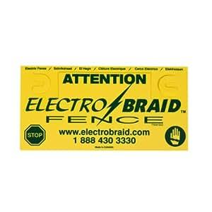 ElectroBraid WS3-EB Fence Warning Sign