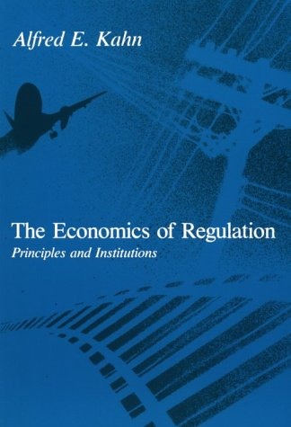 The Economics Of Regulation: Principles And Institutions front-1004303