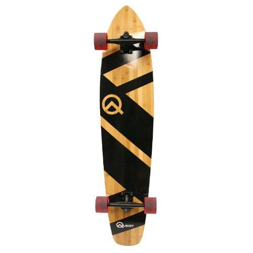 Quest Super Cruiser Artisan Bamboo Longboard Skateboard (44 Inch)