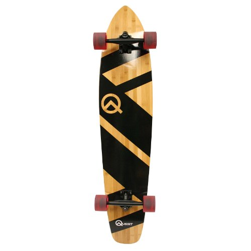 Cheap Quest Super Cruiser Artisan Bamboo Longboard Skateboard (44-Inch)