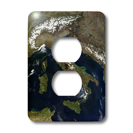 Lsp_174520_6 Florene - Maps Of World In Exotic Form - Image Of Aerial View Of Italy - Light Switch Covers - 2 Plug Outlet Cover