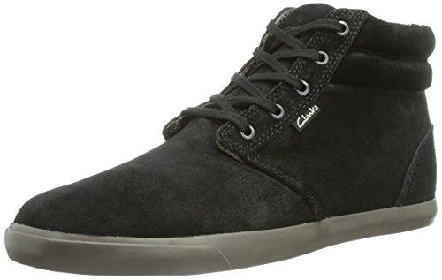 Clarks Torbay Mid, Sneaker uomo, Nero (Schwarz (Black/Grey)), 45 EU (10.5 Herren UK)