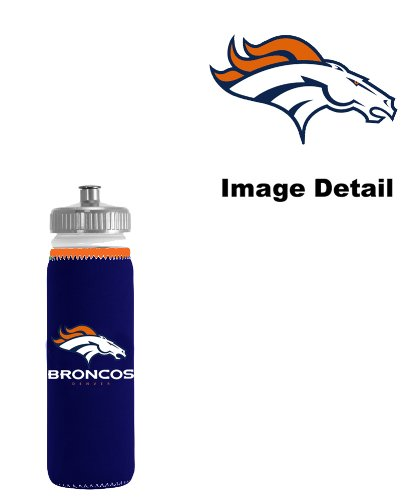 Denver Broncos Nfl Team Logo Sports Drink Water Protein Shake Juice Soda Beverage Bottle Insulated Picnic Outdoor Party Beach BBQ Kooler Bottle Cooler - 12Oz Sports Water Bottle Koozie