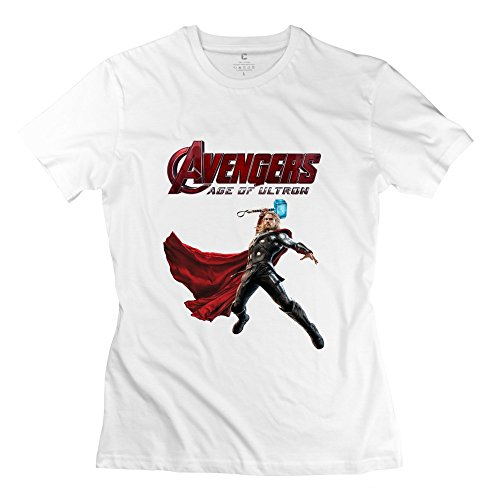 StaBe Woman's Avengers Age Of Ultron Logo T-Shirt Short Sleeve Geek