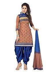 Venisa Cambric Cotton Brown Color Salwar Suit Dress Material
