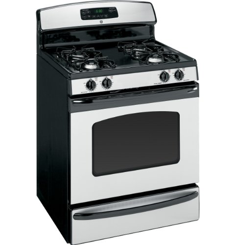 "Jgbp28Metbs 30"" Freestanding Gas Range With 4 Sealed Burners 4.8 Cu. Ft. Self-Clean Oven Storage"