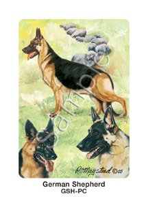 German Shepherds Dog Playing Cards by Ruth Maystead - 1