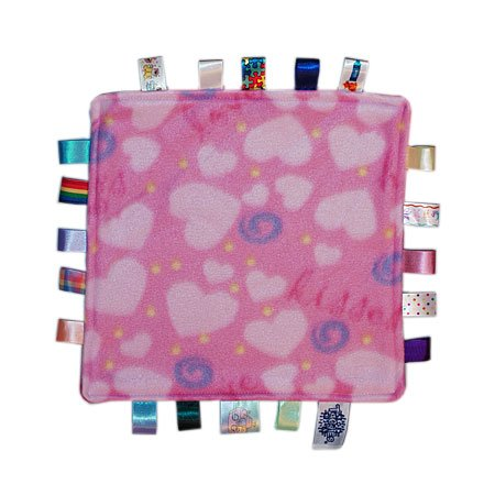 new! genuine taggies baby girl comforter blanket