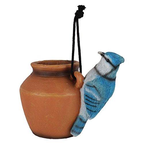 Wonderland Blue Jay Planter Hanging Pot / planter