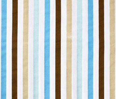 Bacati Mod Dia/Strips Aqua and Choc Stripes Crib fitted sheet - 1