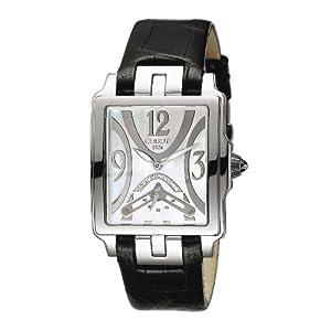 Cerruti 4404645 - Reloj analógico de mujer de cuarzo con correa de piel negra - sumergible a 30 metros