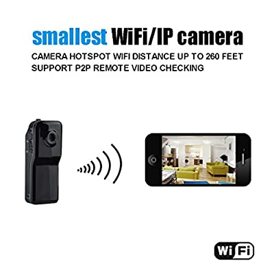 Conbrov(tm) WF81 Mini Portable Wifi IP Security Camera Wireless Video Camcorder data Recorder for Iphone Android Personal body use from Conbrov Group