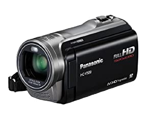 Panasonic V500 Full HD 1920 x 1080p (50p) 3D Ready Camcorder - Black (1MOS Sensor, 50x Intelligent Zoom, SD Card Recording, 2D/3D Conversion with Face Recognition) 3.0 inch LCD