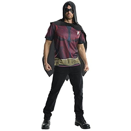 DC Robin Cape Costume Adult Top T-Shirt
