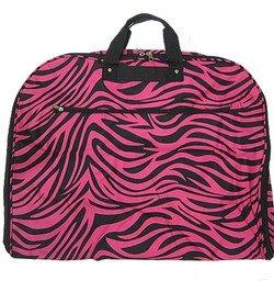 Zebra Fushia Black Trim Garment Bag