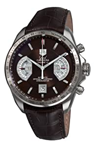 Tag Heuer Grand Carrera Mens Brown Automatic Chronograph Watch CAV511E.FC6231