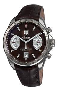 TAG Heuer Men's CAV511E.FC6231 Grand Carrera Chronograph Calibre 17 RS Brown Dial Watch