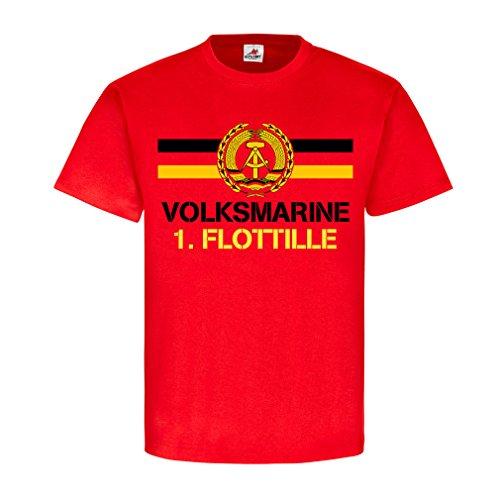 Volksmarine-1-Flottille-NVA-DDR-Nationale-Volksarmee-Ostdeutschland-Marine-Ostsee-Ostalgie-Veteran-Reservist-T-Shirt-Herren-rot-18394