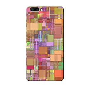 Garmor Abstract Design Plastic Back Cover For Huawei Honor 6 Plus- (Txt-4)