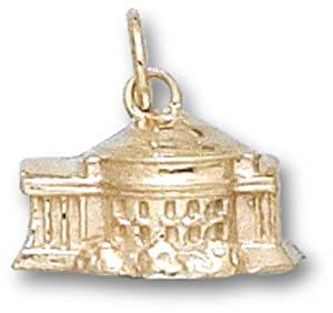 Virginia Cavaliers 3-D Rotunda Charm - 14KT Gold Jewelry by Logo Art
