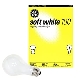 48 100 Watt GE Soft White Incandescent Light Bulbs (Case of 48)