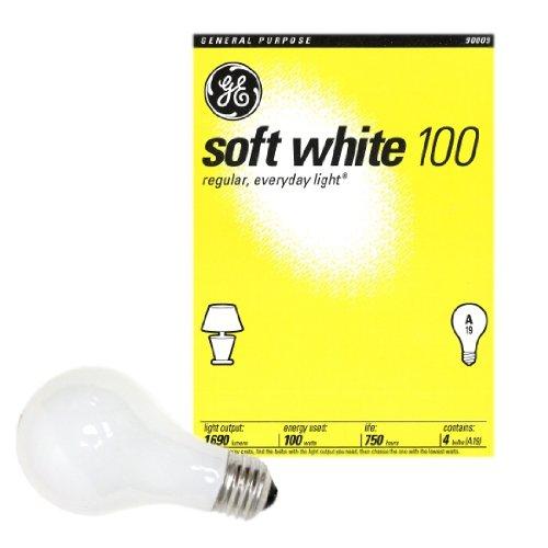 48 100 Watt Ge Soft White Incandescent Light Bulbs (Case Of 48) front-103720