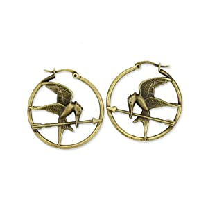 "The Hunger Games Movie Earrings Hoop ""Mockingjay"""