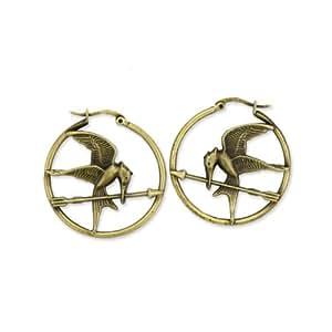 "The Hunger Games Movie Earrings Hoop ""Mockingjay"""