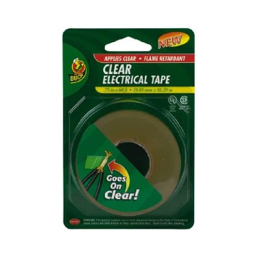 Amazon.com: Duck 1016266 3/4-Inch-by-60-Feet Electrical Tape, Clear