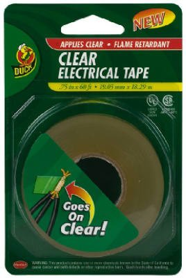 Duck 1016266 3/4-Inch-By-60-Feet Electrical Tape, Clear