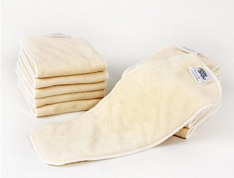 12 Pcs/Lot 4 Layer Soft Touch High Absorbency Reusable Bamboo Nappy Diaper Insert ,35X14Cm,60G/Pc Skbb_058
