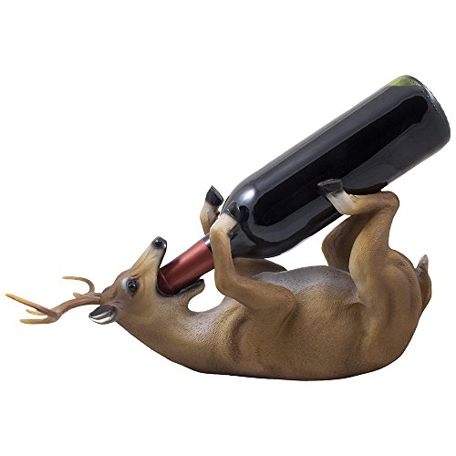 drinking-big-buck-wine-bottle-holder-statue-in-hunting-lodge-and-cabin-kitchen-decor-wine-stands-rac