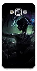The Racoon Grip printed designer hard back mobile phone case cover for Samsung Galaxy E7. (dragon lad)
