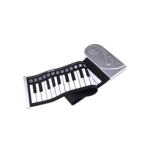 Fome Silicone Portable 49 Keys Flexible Soft Roll Up Electronic Keyboard Rolling Piano + Fome Gift