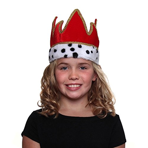 Making Believe Red Velour King Crown