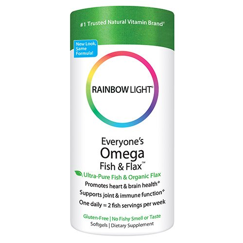Rainbow Light Everyone's Omega Fish & Flax Oil, 60-Count Softgels (Flax Omega 3 Supplements compare prices)