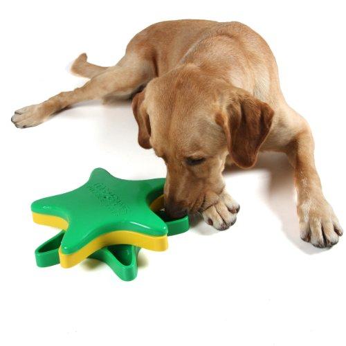 Imagen de Kyjen DG40113 estrellas Spinner tratar perro juguetes aroma Puzzle formación del juguete, grande, verde