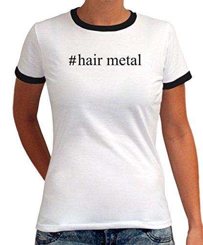 Maglietta Ringer da Donna #Hair Metal Hashtag