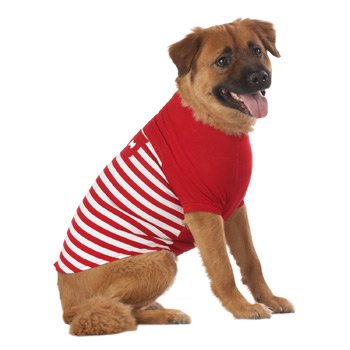 Petco Pup Crew Red and White Striped Dog T-Shirt