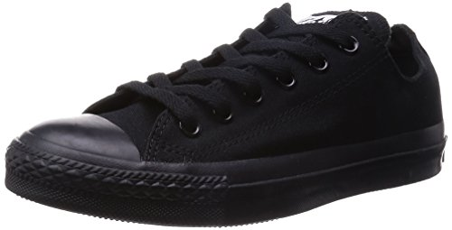 Mens Converse All Star Ox Low Top Chuck Taylor Chucks Lace Up Trainer - Black Mono - 11