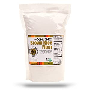 Amazon.com : 5lb. Organic, Sprouted Brown Rice Flour