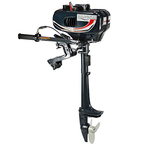 3.5HP 2 Stroke Inflatable Fishing Boat Outboard Motor Boat Engine with Water Cooling System (black) (2 Hp Boat Motor compare prices)