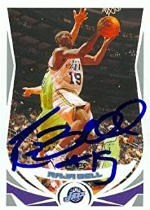 Raja Bell Autographed Hand Signed Basketball Card (Utah Jazz) 2004 Topps #36 by Hall of Fame Memorabilia