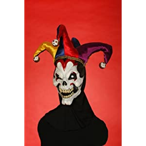 Evil Scary Halloween Bloody Clown Jester Full Head Mask Adult Adt Standard
