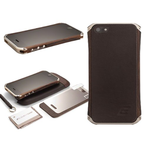 Best Price Ecoe Tech New Wood Metal Bumper Case Ronin for Iphone 5 Gun Metal Caps Machined Aluminum Ends (champagne)