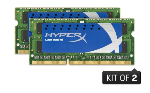 Hyperx Genesis 8Gb 1600 Mhz Ddr3 Pc3-12800 Non-Ecc Cl9 Sodimm Notebook Dual Channel Memory Khx1600C9S3K2/8Gx