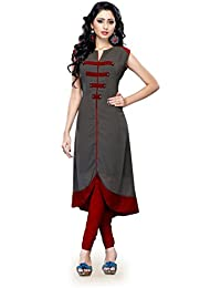 Manthan Latest Grey Solid Kurti